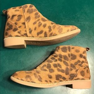 MIA Girls Side Zip Leopard Bootie Size 2